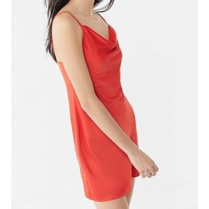 Urban Outfitters Mallory Cowl Neck Slip Dress